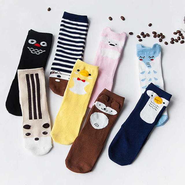 Baby Socks South Korea Dispensing Non Slip Cotton Owl Socks Girls
