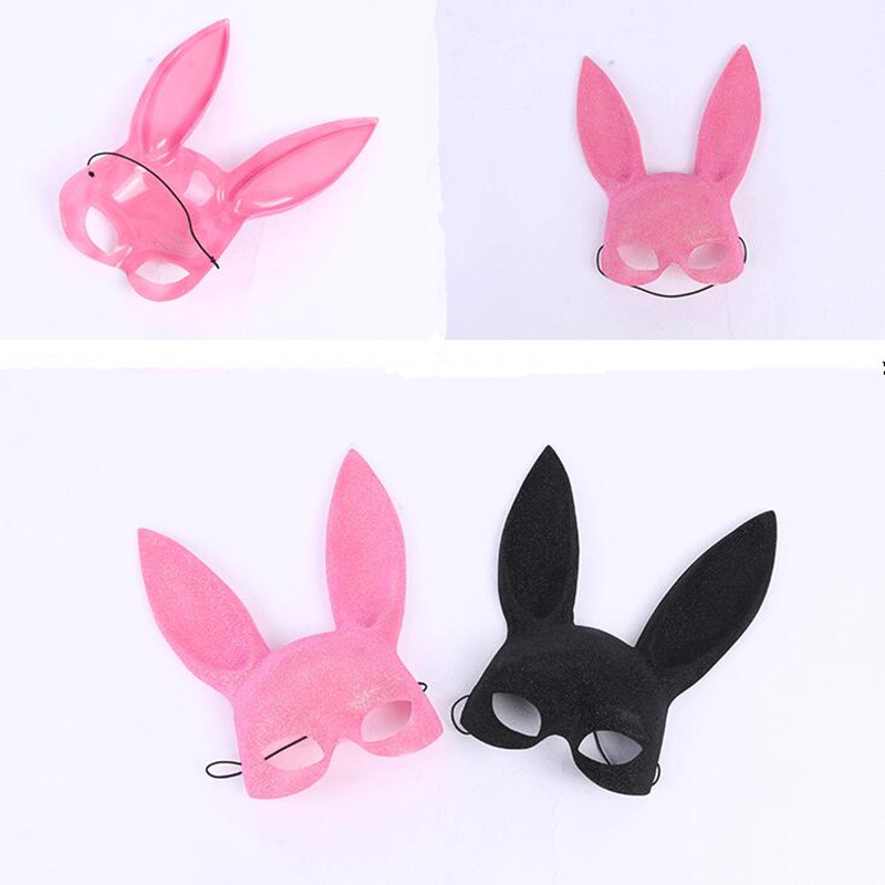 Sexy Women Masquerade Bunny Mask Half Face Rabbit Long Ears Masks For Adults Dance Party New