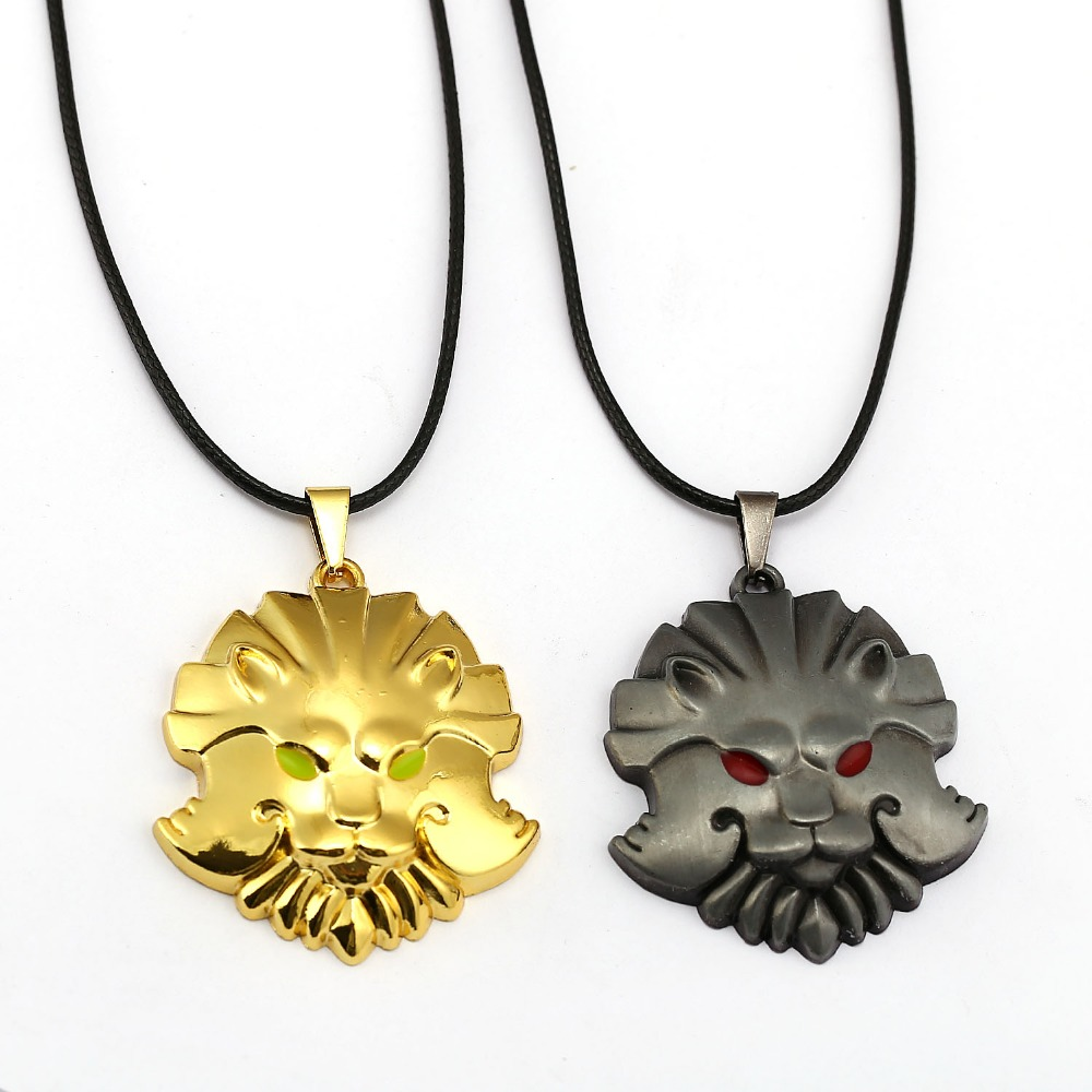 Dota turret 2 STATEMENT Necklace Charm Jewelry Gifts courage Medal Necklace Around The Game Online Game DOTA Lion Head