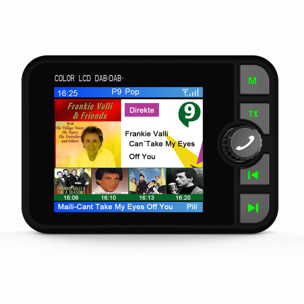 Mini DAB Digital Radio Receiver Adapter Colorful LCD Screen Bluetooth MP3 FM Transmitter for Car Accessories