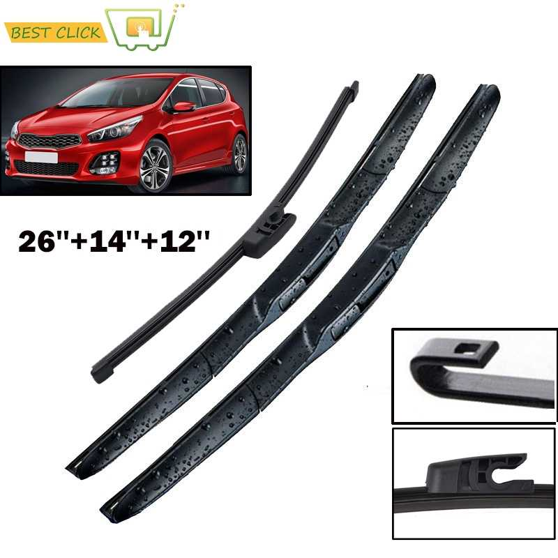 Kia Motors Rear Wiper Arm Blade 2pc 1Set For 2003 2004 2005 2006 2007 2008 2009 Kia sorento