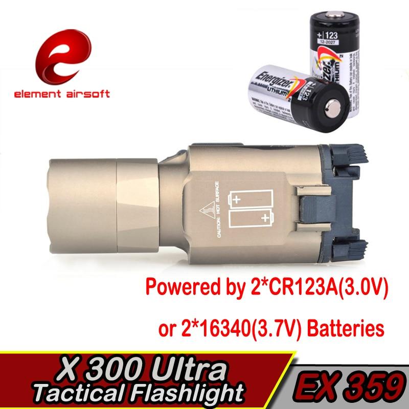 Elemento táctico Surefir X300 LED Arma Luz Waffe lanterna Airsoft - Caza - foto 3