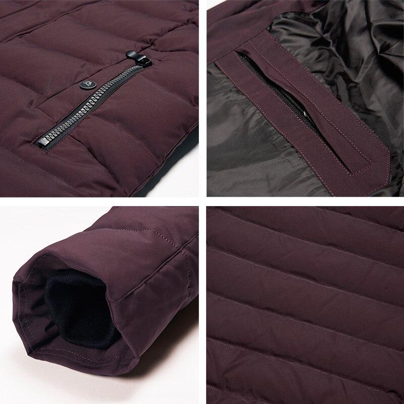 ICEbear 2018 nouveaux hommes de veste d'hiver chaud chapeau détachable mâle manteau court mode décontracté vêtements homme marque vêtements MWD18813D - 5