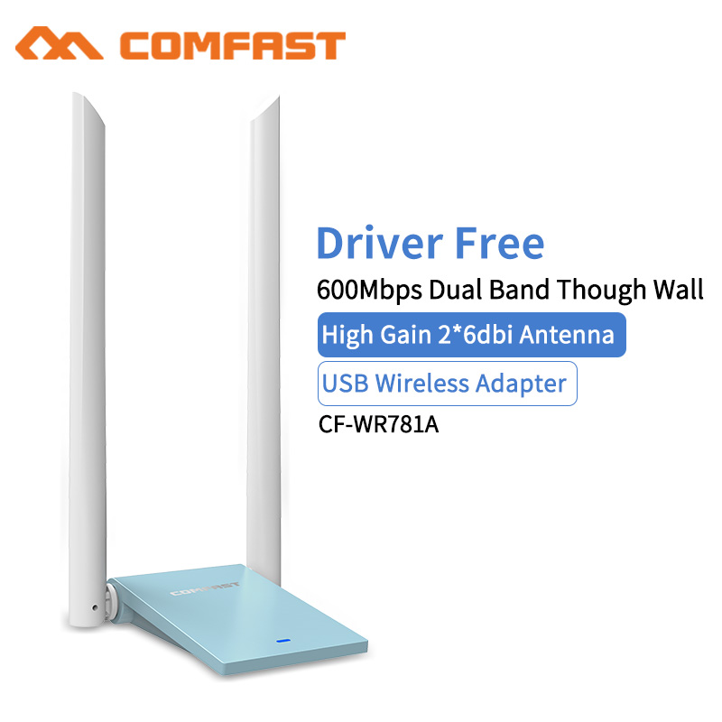 2*6dbi Wi Fi Antenna USB Wireless Wifi Adapter Dual Band 2.4+5 GHz 650Mbps 802.11AC 802.11 A/b/n/g/ AC Network Adapter Dongle
