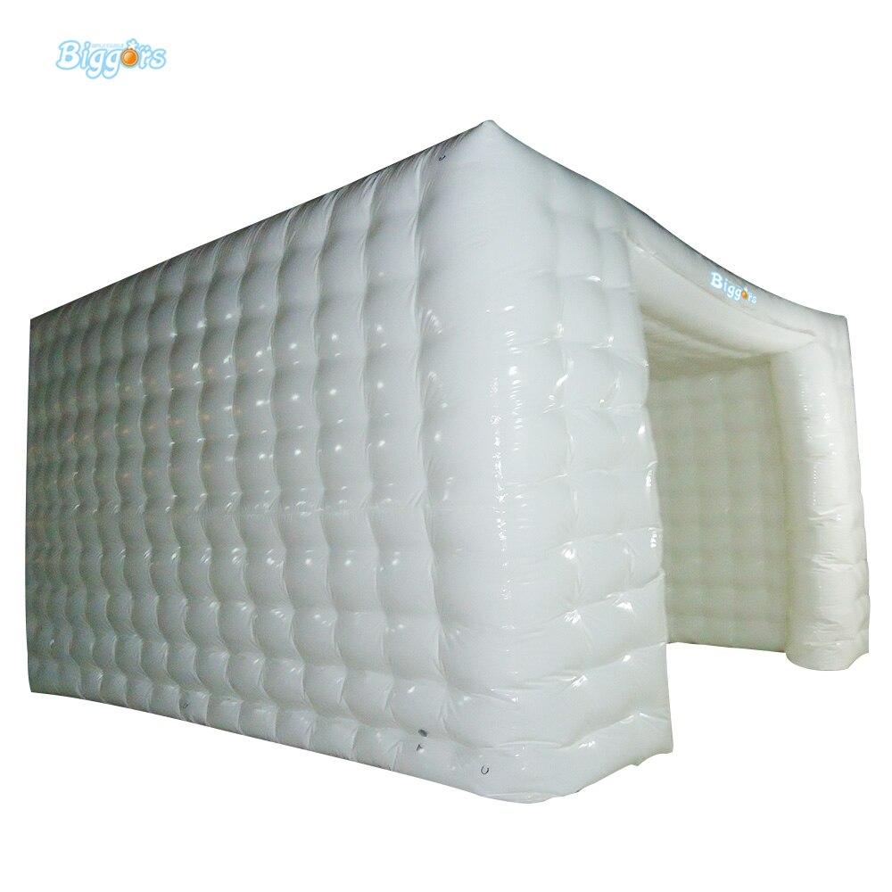 Tente gonflable de cabine de Photo de LED de tentes gonflables de toit de voiture de 4 M * 4 M * 3 M à vendre avec le jouet extérieur de lumière LED libre