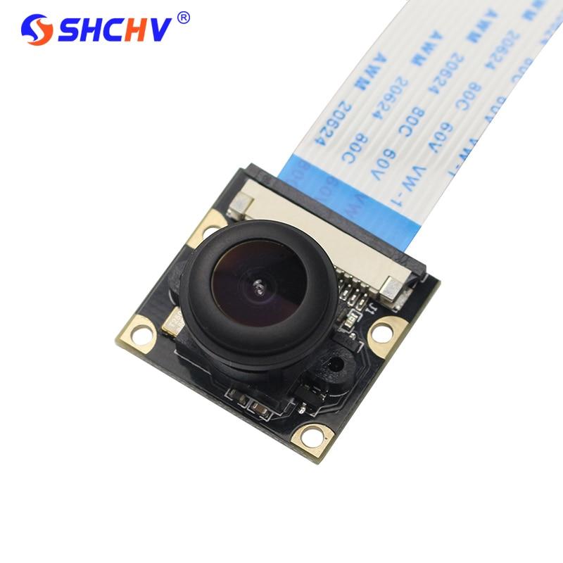 Raspberry Pi 4 Model B Camera Night Vision Wide Angle Fisheye 5M Pixel 1080P Camera Compatible Raspberry Pi 3 Model B/B+