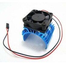 Aluminum Heat sink 5V Cooling Fan for 1 10 RC Car 540 550 3650 Size Motor
