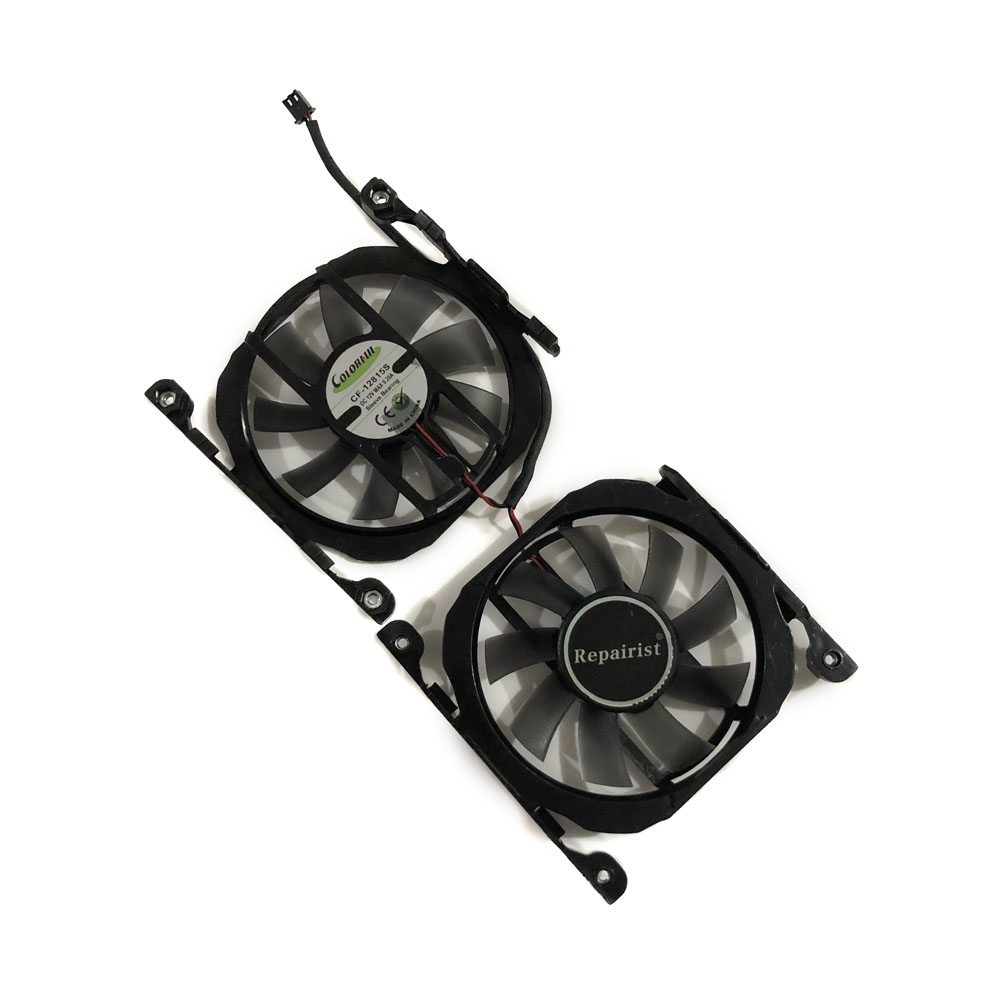 2pcs/set CF-12815B/S GPU Card Cooler <font><b>Fan</b></font> For INNO3D GeForce <font><b>GTX</b></font> 1070Ti X2 V2 <font><b>GTX</b></font> 1070 V4 <font><b>GTX</b></font> 750TI <font><b>GTX</b></font> 750 <font><b>GTX</b></font> <font><b>660</b></font> graphics card image