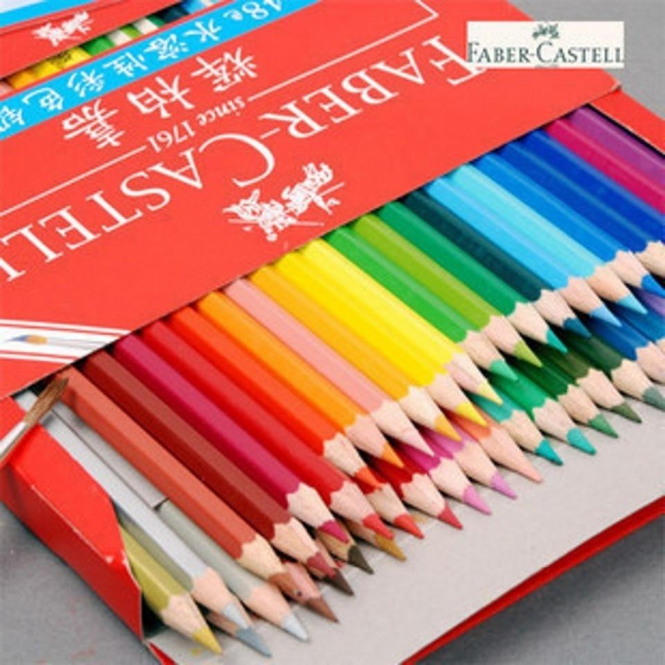 1pack 48 Warna Faber Castell Cat Air Pensil Larut Dalam Air Pensil Warna Color Pencil Colorations Colored Pencilspencil Color Aliexpress