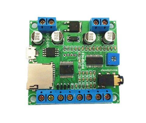MP3 Sound Board with on board 10Watts Amplifier Triggered by 4 Buttons
