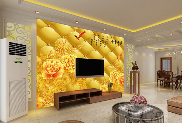 1402 Can be customized 3D visual space home decoration mural art ...