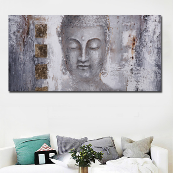 Large Size Abstract Art Buddha Painting 1