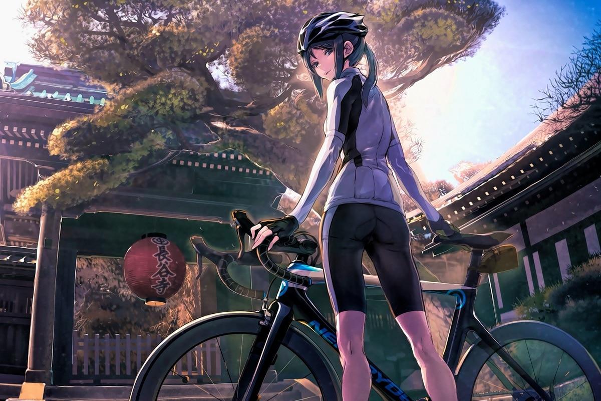 Anime Girl Bike