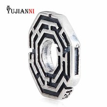 925 Sterling Silver Labyrinth Bead for Jewelry Making 4.5mm Hole Charm Fits European Original Troll Bracelet & Necklace
