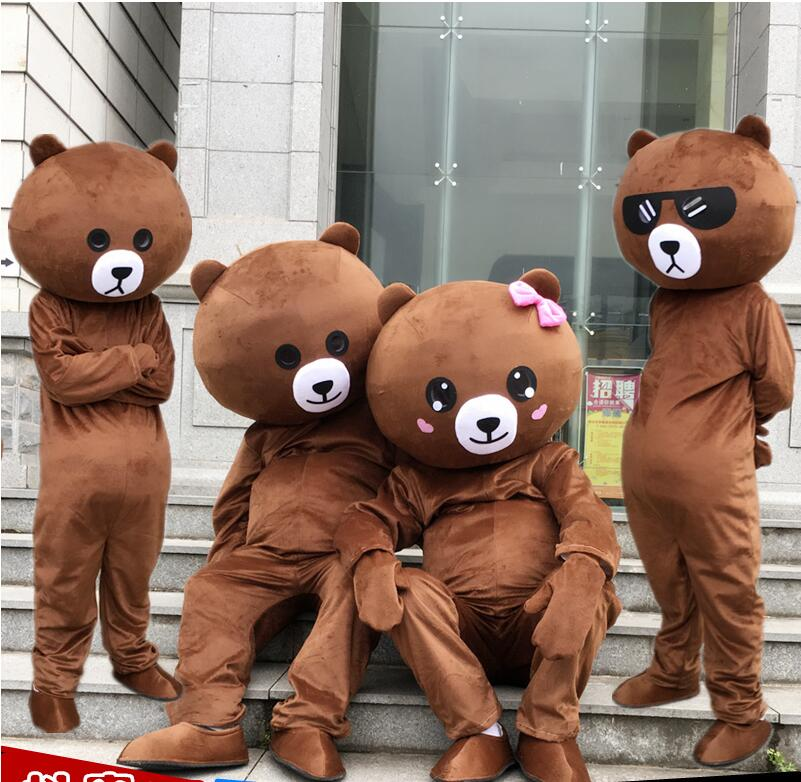 2019 Brown Bear Mascot Costume Suits Cosplay Party Game Dress Outfits Clothing Advertising Carnival Halloween Christmas Easter