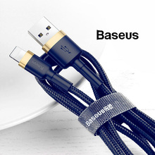 Baseus 2.4A Quick USB Data&Charging Cable For Apple Lightning iPhone Cable For IPhoneX XS 8 7 6 0.5m 1m 2m Fast Charging cable pofan p11 lightning charging data cable line silver