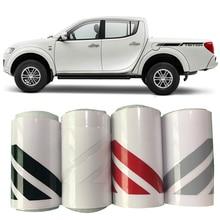 2 PC body side graphic vinyl box bed car wrap  for side sticker decal for mitsubishi l200 triton 2 piece x for mitsubishi pajero triton l200 4x4 montero galloper all 91 d 50 locking hubs b012hp avm 443hp