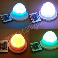 Led 6 uds DHL envío gratis 38LEDS 16 cambio de colores batería recargable inalámbrica Luz de mesa
