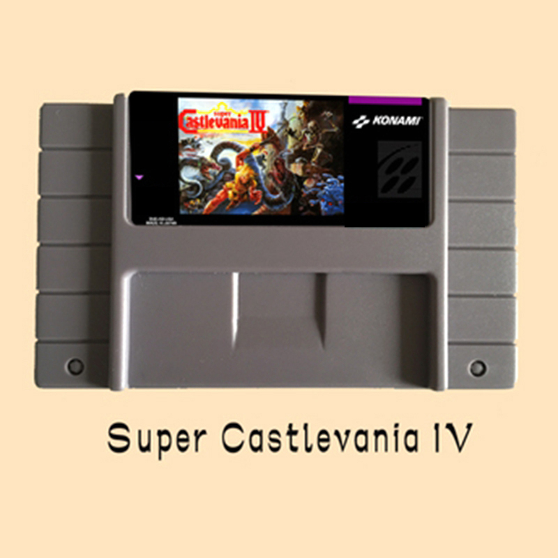 Super Castlevania IV 46 Pin 16 Bit Grey Game Card For USA NTSC Game Player image