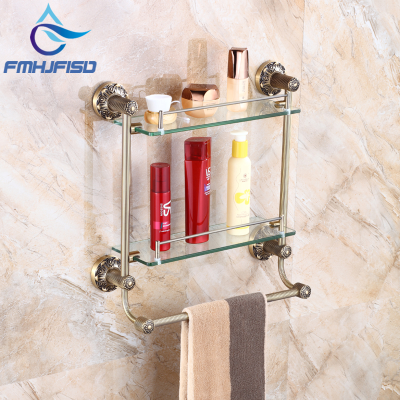 Wholesale and Retail Bathroom Tower Bar and the Storage Holder Shelf Antique Brass corona processor shelf corona treatment 1100 film impact machine shelf the shelf the width the electric airsick discharge rack