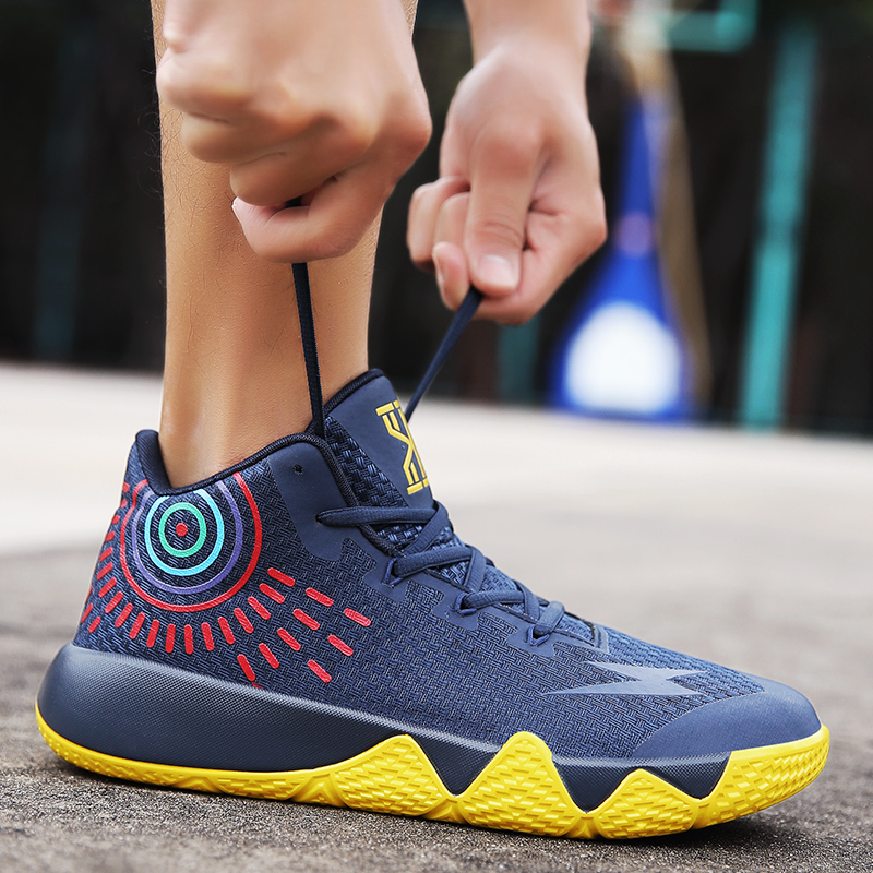 Pscownlg Men s Women s Basketball Shoes Sneaker PU Breathable outdoor  Athletic Sport boots Sneakers For Male Basketball Shoes -in Basketball Shoes  from ... 752b0c821977