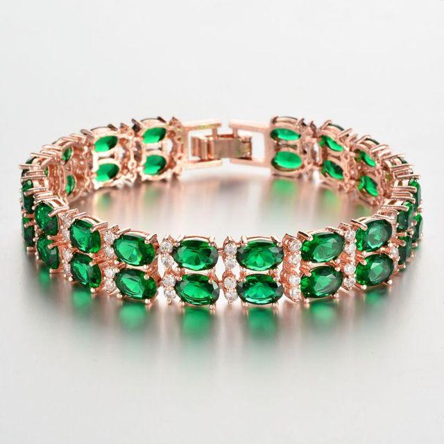 Zircon Bracelet Exaggerated...