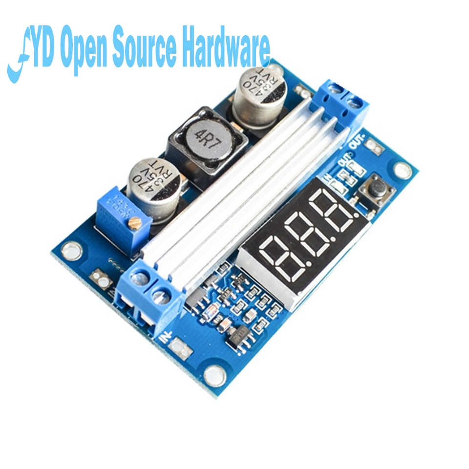 10pcs DC DC LTC1871 C Step Up Booster Converter 3-35VDC to 3.5-35VDC + LED Voltmeter DC-DC Step Up Module