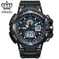 Nova smael relógio do esporte da marca para os homens à prova d' água led digital relógio de pulso s choque relógio de quartzo montre homme relogio ws1376