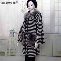 women real fur coat natural rex rabbit fur with silver collar winter jacket chinchilla color fur coat real fur with cardigan