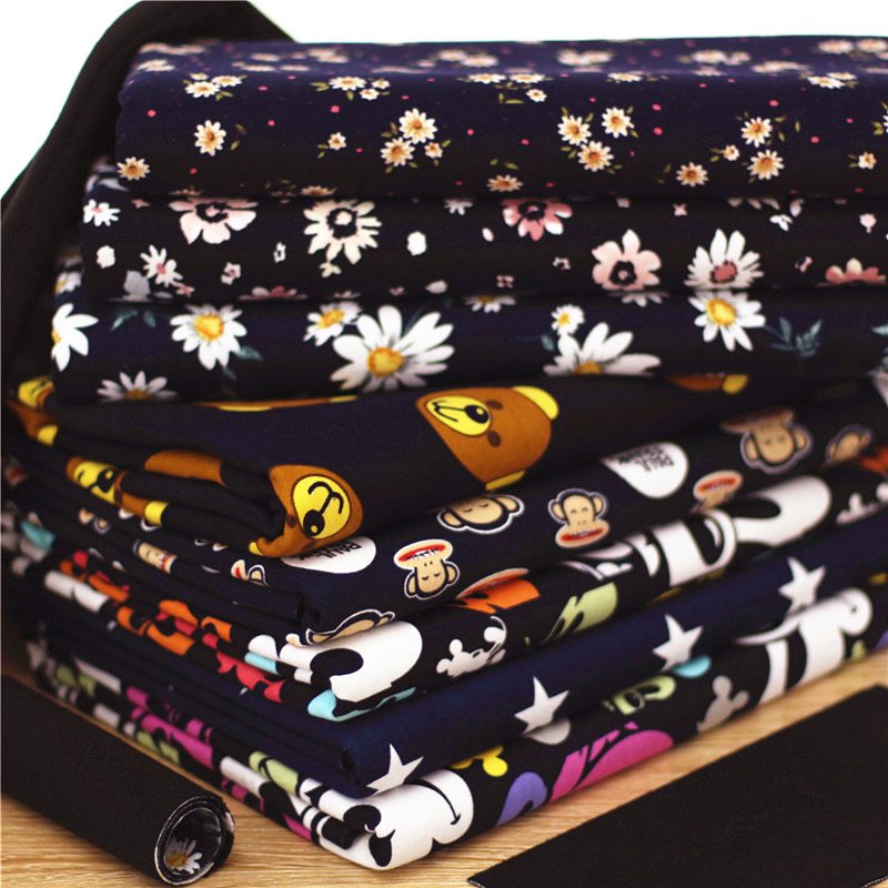 140 50cm1pc good stretch cotton fabric plus polar warm for Children s material sewing