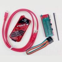 FREE SHIPPING PIC PIC Kit 3 PICKit3 Programer PIC Simulator Kit3 USB Cabel 6Pin Cable CD
