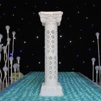 2017 two sets props plastic roman pillars column pedestal wedding party decoration wedding road lead centerpiece
