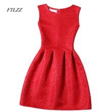 Cute casual sleeveless round neck mini dress