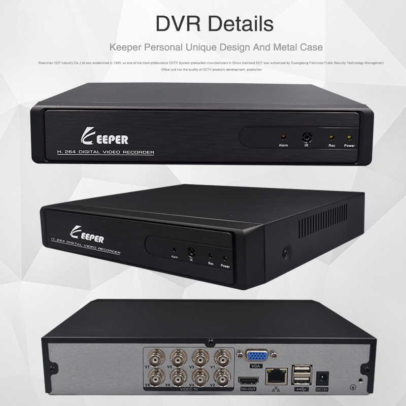 Хранитель 8 каналов 1080N AHD гибридный 5 в 1 DVR XVR видеонаблюдения видео рекордер поддержка TVI CVI AHD CVBS IP камера 4