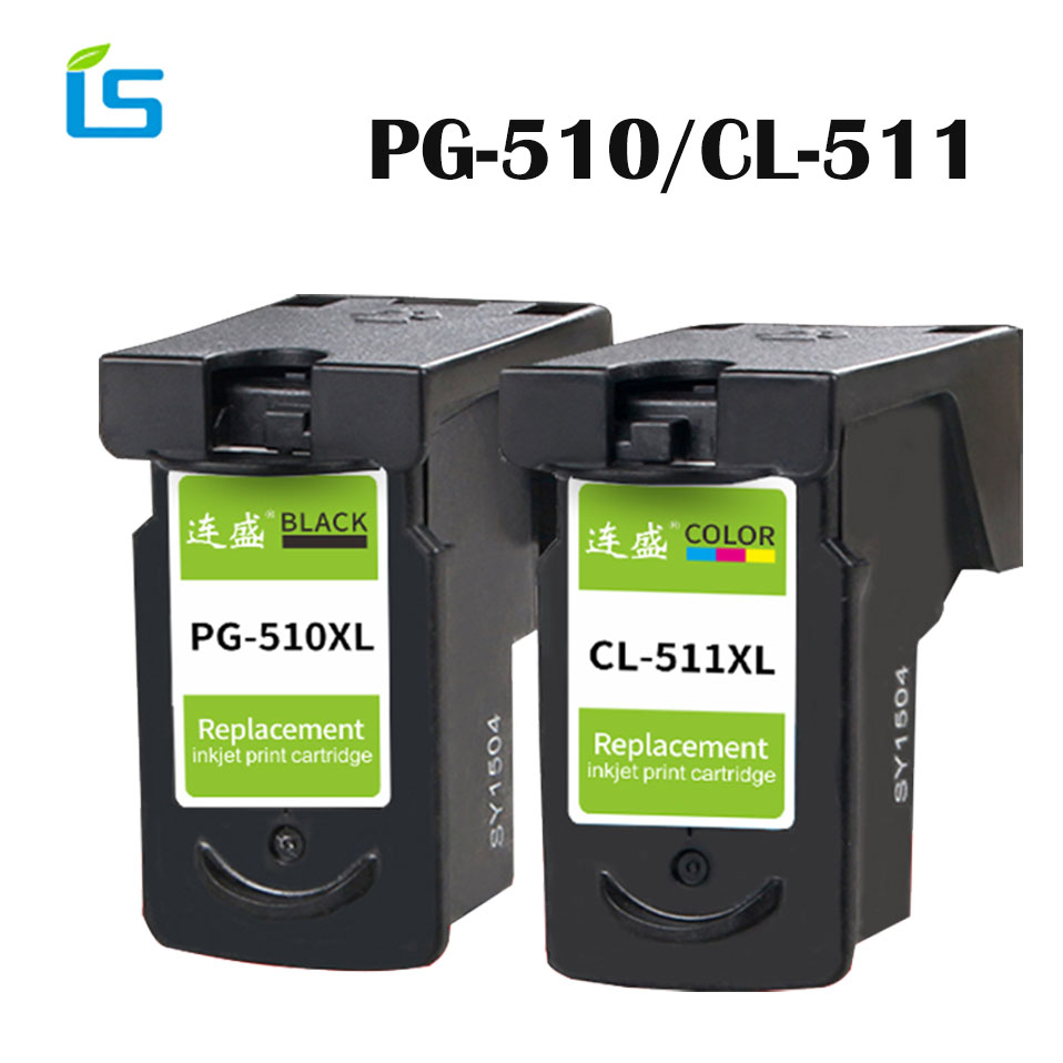 2Pcs/set Refilled Ink Cartridge replacement for Canon PG 510 pg-510 CL 511 for Pixma MP240 MP250 MP260 MP270 MP280 MP480 IP2700 цена 2017