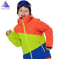 VETOR Meninas Meninos Jaquetas De Esqui térmico Impermeável Crianças Jaqueta De Esqui De Alta Qualidade para Crianças Roupas de Inverno-30 graus HXF70005