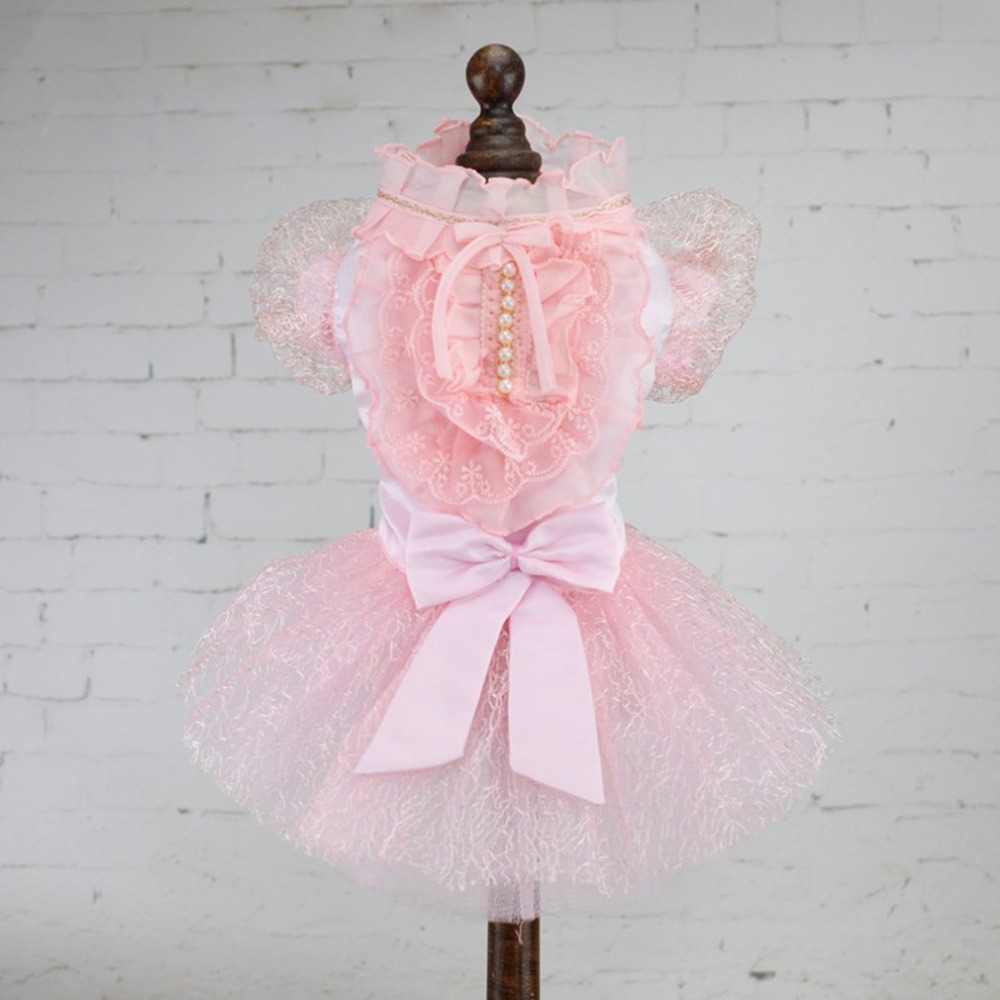 Fashion Dog Clothes Dress Sweety Princess Dress Small Medium Dogs Teddy Puppy Polyester Party Wedding Dresses Pet Accessories