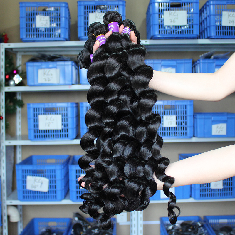 Loose Wave Bundles Raw Virgin Brazilian Hair Weave Bundles 100% Human Hair Bundle Extension One Piec