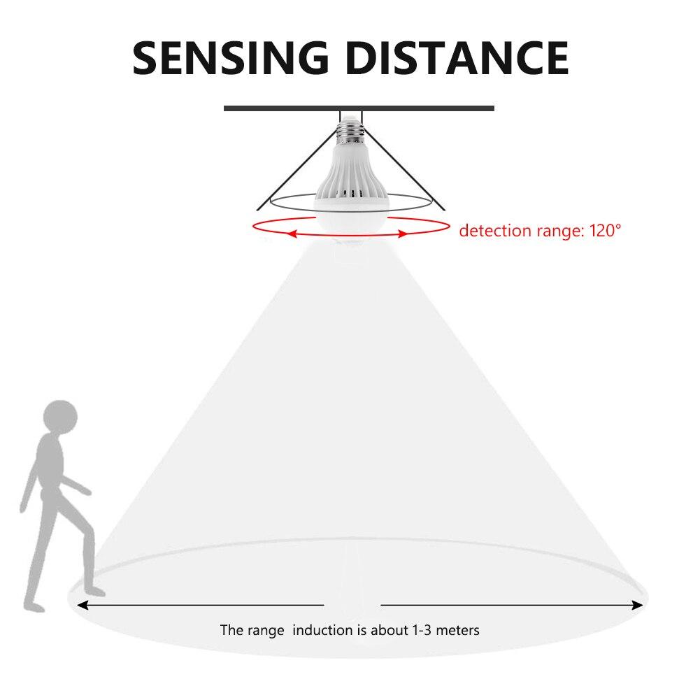 TSLEEN AC 85-265V E27 LED PIR Motion Sensor Lamp 5w 7w 9w Led Bulb Auto Smart Infrared Motion Sensor Light for Night Lighting