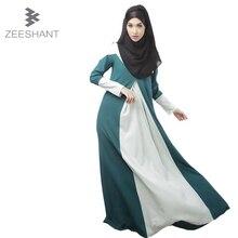 Zip Geri Kaftan Moda Aplikler Erişkin Türk Abaya İslam Müslümanlar Ortadoğu Arap Elbiseler Giyim Hanım Elbiseler Giyim