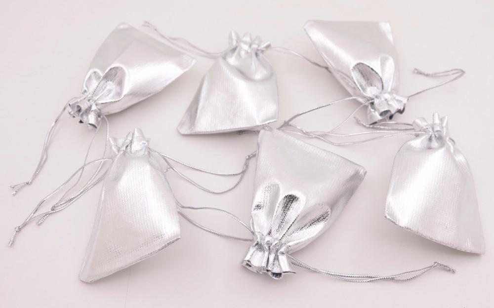 Bulk 100 PCS Jewelry Gift Bag Pouch Silver Golden Bags Pouches Choose 5X7cm 7X9cm 10X12cm