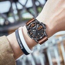 DOM לצפות גברים יוקרה ספורט קוורץ שעוני יד שעון Mens שעונים עור עסקים עמיד למים שעון Relogio Masculino M-1218BL-1M5