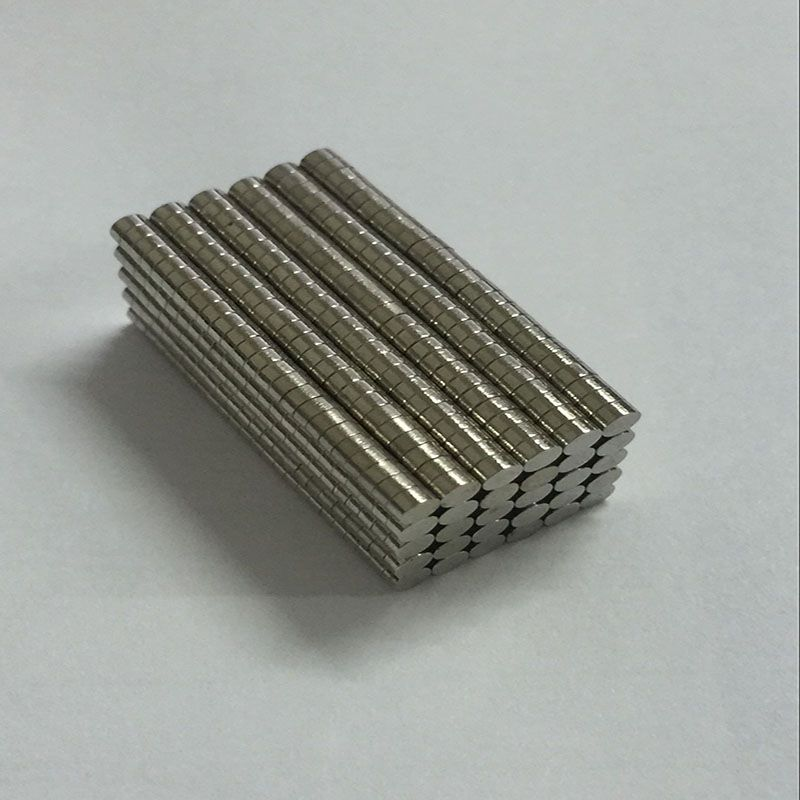 200pcs Strong Magnets Tiny Disc NdFeB Rare Earth For Crafts Models Fridge Sticking Neodymium N35 Dia 2mm X 1mm greeting word style fridge magnets 4 pack