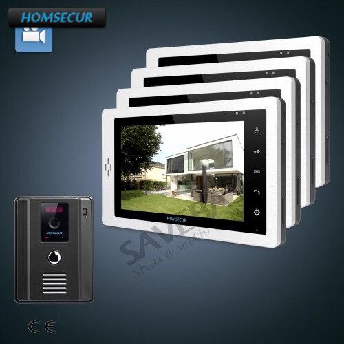 HOMSECUR 7 Video Door Phone Intercom System+LCD Color Screen for Apartment 1C4M