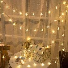 10 м 80 светодиодный s Звездный струнный светильник s уличный на батарейках светодиодный Сказочный светильник s праздничный свадебный новогодний декор СВЕТОДИОДНЫЙ занавес светильник PD043