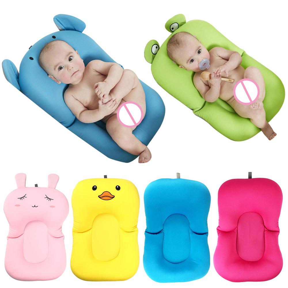 Newborn Bath Floating Pad Mat Baby Bath Tub Pad & Chair & Shelf Bathtub Seat Infant Support Cushion Mat Bath Mat  Toddler Bloom