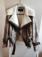 Autumn and winter font b women s b font thicken warm fleece lining turn down collar