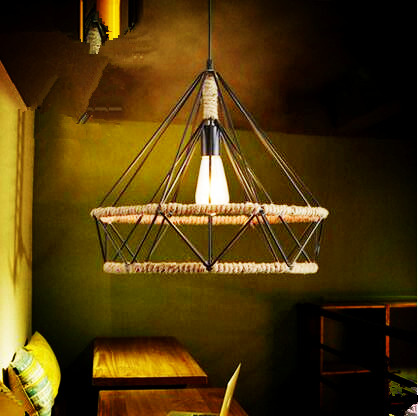 Lampen Retro Rope Vintage Lamp Loft Style Industrial Pendant Lighting Fixtures Luminaire Edison Handing Light Lamparas american edison loft style rope retro