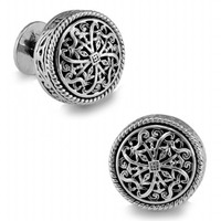SPARTA White Gold Electroplated + High Quality Metal Stanislaus men's Cufflinks Free Shipping !!! metal buttons