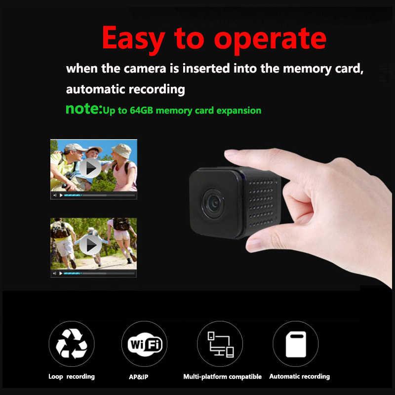 Onzichtbare Night Versie Wifi IP Mini Camera Draadloze 1080 P voor Video-opname Ondersteuning Afstandsbediening Draagbare Recorder pk q7